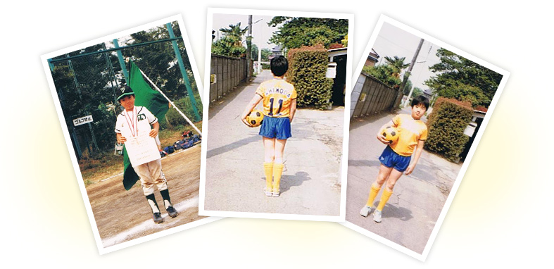 下田大気、幼少期の写真